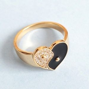 Anthropologie Yin + Yang Ring Size